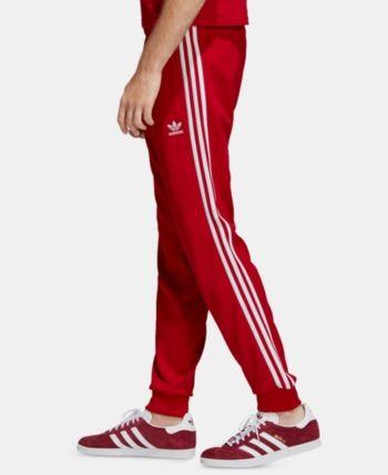 adidas adicolor red sst track pants