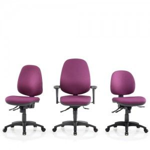 Bright fabric office chairs! Office seating in shades of purple!