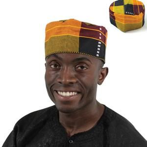 African Traditional Kente Kufi Hat Style 2 For Men And Women Etsy In 2021 Hat Fashion Kente African Hats