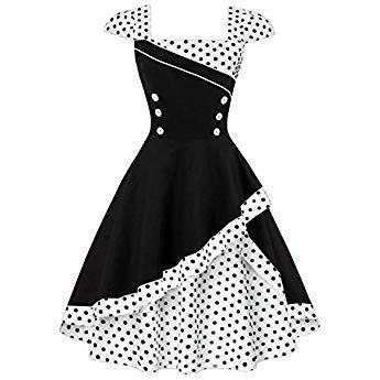 Causale Babyonlinedress Vestiti Donna Estate S-2XL Vestiti Rinascimento Donna Vestiti 50 Anni Mediavale Vestito Floreale Donna Elegante Audrey Hepburn per la Sera Cerimonia