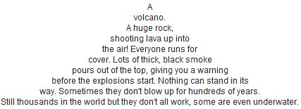 Image result for poem about volcanoes