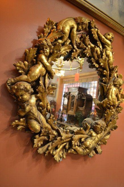 gold mirror wall decor.htm antique gold figural cherub mirror with cherub wall sconces 3  antique gold figural cherub mirror with