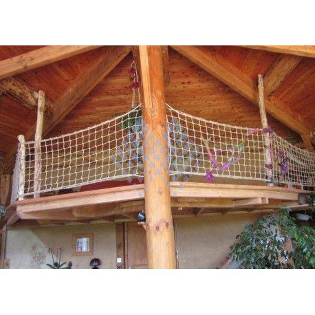 Filet De Protection Garde Corps Corde Aspect Naturel 100mm Vente En Ligne Habitat Jardin Habitat Maille