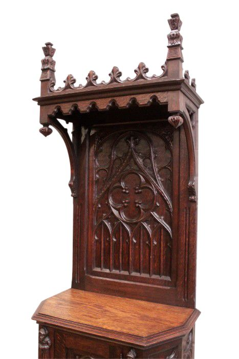 Antique Cabinet French Gothic, Gothic Cabinet Furniture
