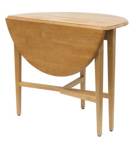 42 Inch Round Drop Leaf Table Furniture Space Save Dining Kitchen
