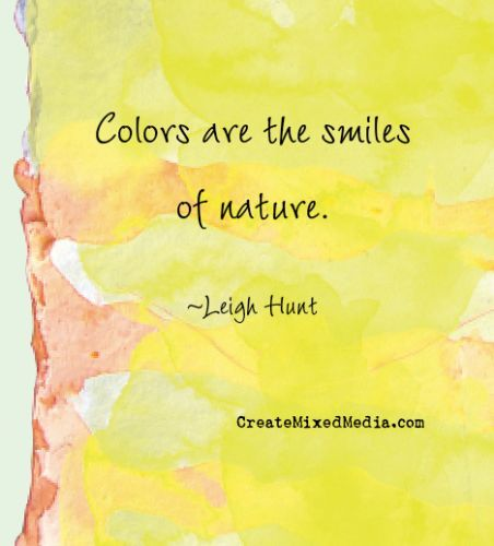 colors are the smiles of nature leigh hunt art quotes