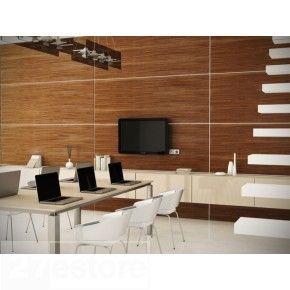 Modern Wall Panels In All Natural Dark Walnut Wood Veneer Tv - wall panelling designs with veneer