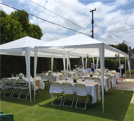 Quictent 10 X 30 Party Tent With 6 Sides And 2 Zipper Doors White Canopy Tent Outdoor Party Tent Diy Outdoor Party Tent
