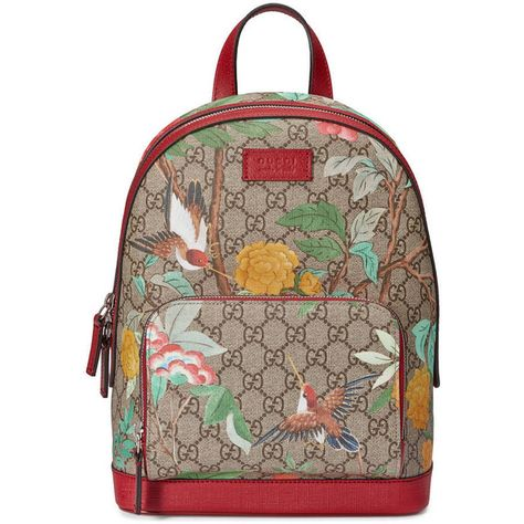 a951123ef0e6 Gucci Gucci Tian Gg Supreme Backpack ($1,005) ❤ liked on Polyvore featuring  bags, backpacks, handbags, women, floral canvas backpack, butterfly backpack,  ...