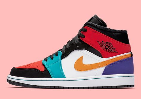 2dbf98430c0 First Look At The Air Jordan 1 Mid Multi-Color