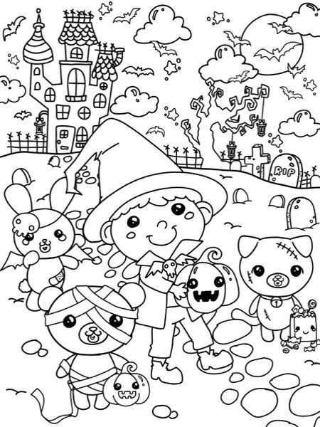 Best Halloween Coloring Books For Adults Halloween Coloring Book Halloween Coloring Halloween Coloring Pages