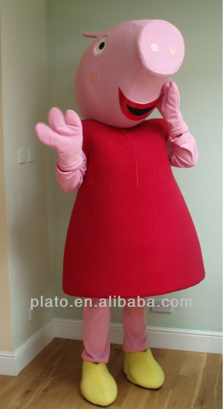 Lovely Pink Peppa Pig Costume For Halloween Dressing Party