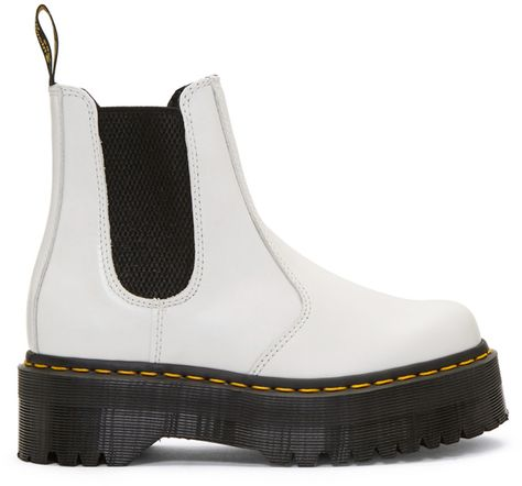 Dr. Martens White 2976 Quad Chelsea Boots in 2020