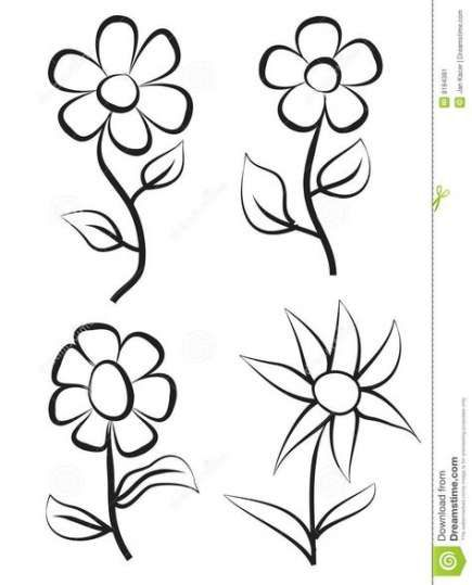 Super Drawing Flowers Doodles Free Printable 64 Ideas Simple Flower Drawing Easy Flower Drawings Flower Drawing Design