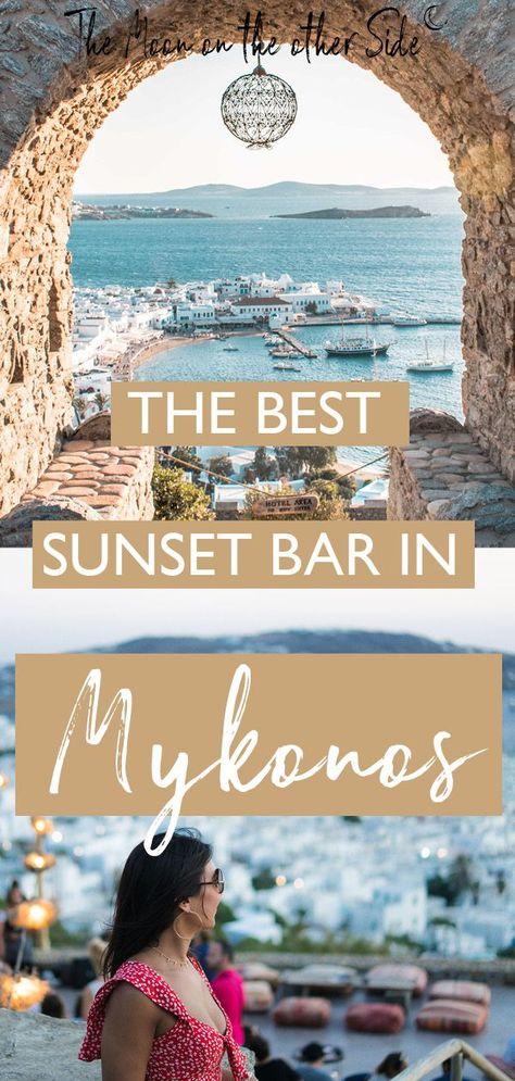 The best sunset bar in Mykonos, Greece