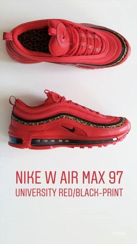 Nike W Air Max 97 Black Print University Red