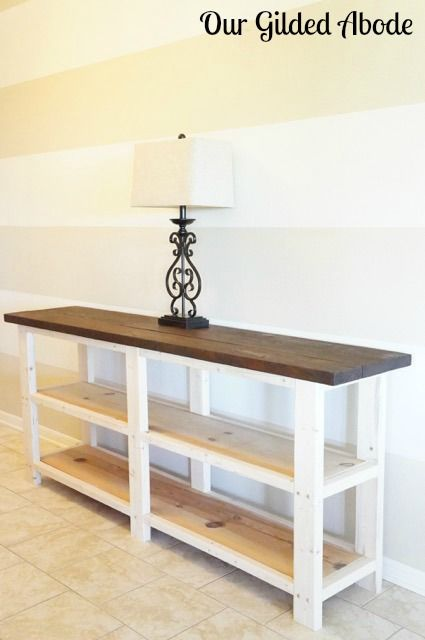Woodworking Organization Home Our Gilded Abode - DIY Console Table.Woodworking Organization Home Our Gilded Abode - DIY Console Table Furniture Plans, Decor, Home Diy, Furniture Diy, Diy Sofa, Cheap Home Decor, Furniture, Diy Sofa Table, Home Decor