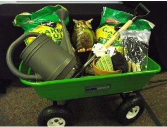 Place a bid on Grade Garden Basket to help support the Burlington Christian Academy fundraising auction. Fundraiser Baskets, Raffle Baskets, Theme Baskets, Themed Gift Baskets, Chinese Auction, Garden Basket, Garden Cart, Garden Wagon, Garden Owl