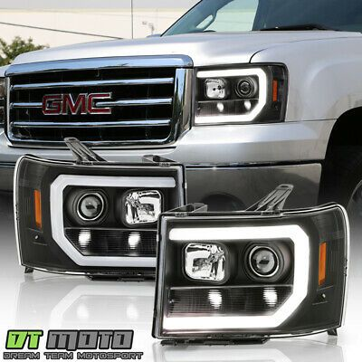 Ad Ebay Link Black Edition 2007 2013 Gmc Sierra 1500 2500hd Led Tube Projector Headlights Gmc Sierra 1500 Projector Headlights Sierra 1500