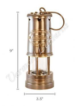Oil Lantern Antique Brass Coal Miners Lamp 9 In 2019