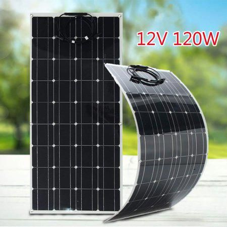 Solar Panel 120w 12v Solar Panel R Flexible Monocrystalline Solar Cells Module Kit 12v Car Battery R For Outdo In 2020 Solar Panels Solar Energy Panels 12v Solar Panel