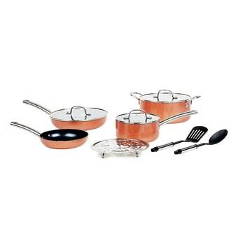 Rachael Ray 14 Piece Aluminum Non Stick Cookware Set In 2020 With
