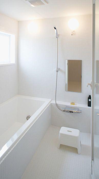 Muji Infill タイル張りユニットバス 仕様 設備 無印良品の家 ユニットバス ラグジュアリーなバスルーム シンプル