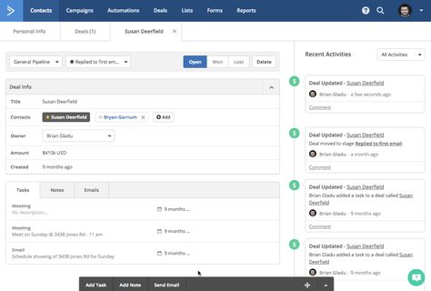 Sales CRM with Automation | ActiveCampaign