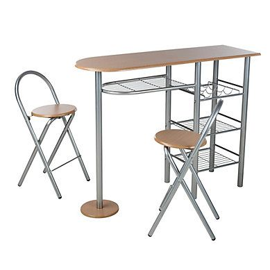 table bar 2 chaises pliantes tipunch