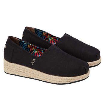 Skechers Ladies' BOBS Wedge Canvas Shoe