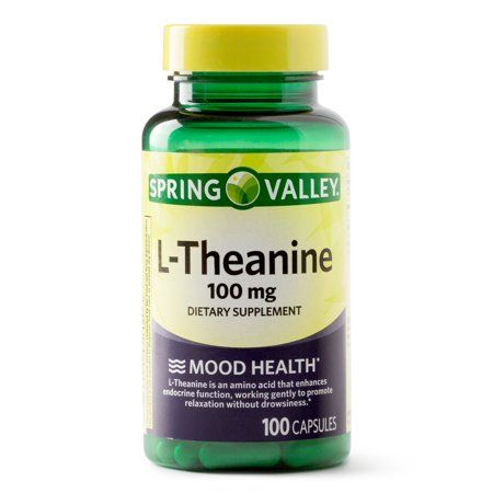 Spring Valley L Theanine Capsules 100 Mg 100 Count Walmart Com Theanine Spring Valley Veggie Caps