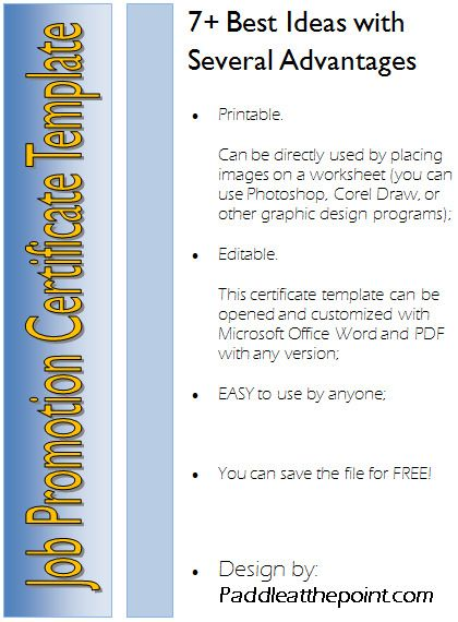 Discover The 7 New Design Ideas Of Certificate Of Job Promotion
