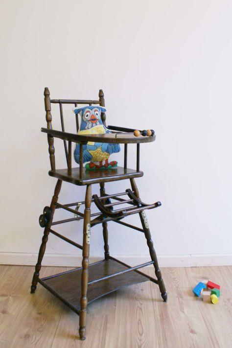 Kinderstoel Aan Tafel.Oude Huten Vintage Kinderstoel Transformeerbare Hoge Retro