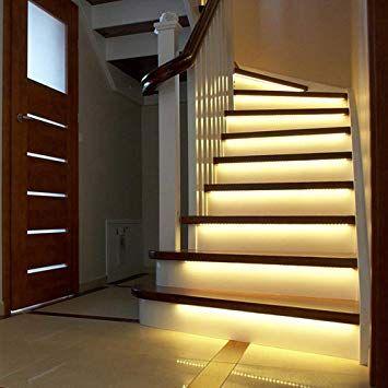 Motion Sensor Stair Lights Home Interior Design Ideas Strip Lighting Stair Lights Stair Lighting