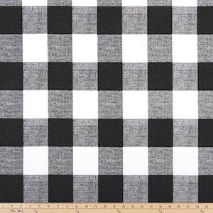 Anderson Black Is A Black Check Drapery Fabric By Premier Prints Suitable For Draperies Bedding Headboards Buffalo Check Fabric Gingham Fabric Check Fabric
