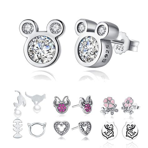 Wostu New Arrived Dolphins Cz Earring Stud 925 Sterling Sivler With Pave Setting