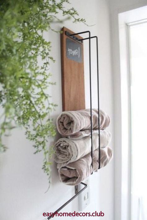 Easy Home Decors Easy Home Decors Diy Towels Diy Towel Rack Easy Home Decor