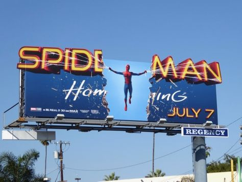 Spider-man Homecoming movie billboards...