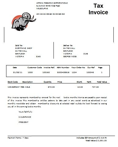 Australian Tax Invoice 8 Austrialian Tax Invoice Templates - cheque receipt template