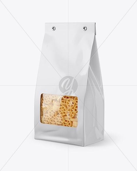 Download Paper Bag With Ruote Pasta Mockup Half Side View In Bag Sack Mockups On Yellow Images Object Mockups Mockup Free Psd Mockup Free Download Psd Template Free
