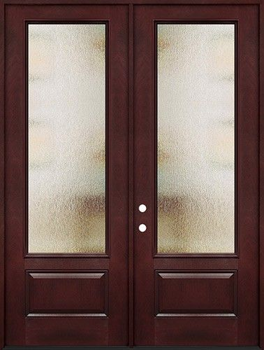 Privacy Glass 8 0 Tall 3 4 Lite Pre Finished Fiberglass Double