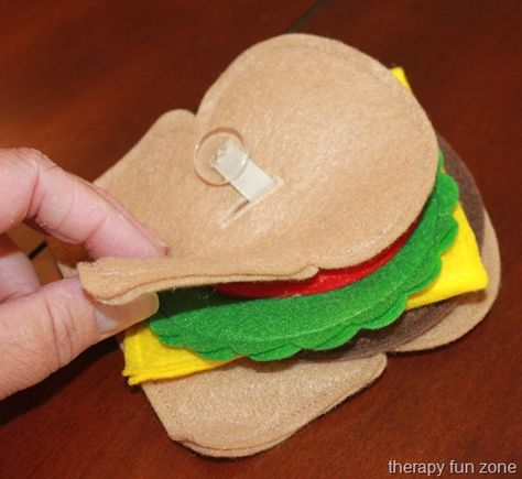 Kids love playing with pretend felt food, and the Button Felt Food adds some fine motor skill to the fun.