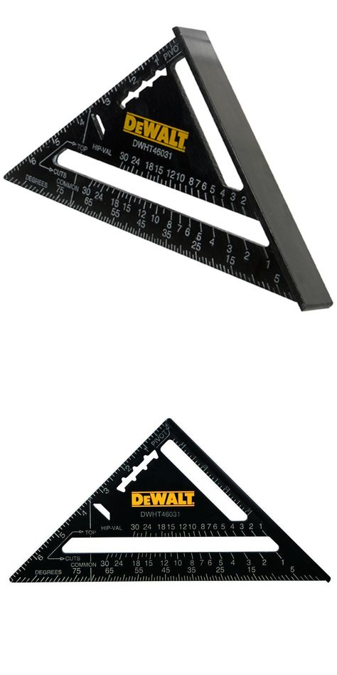 Squares 42253 Dewalt Dwht46031 Aluminum 7 Inch Premium Rafter Square Buy It Now Only 14 3 On Ebay Rafter Square Dewalt Rafter