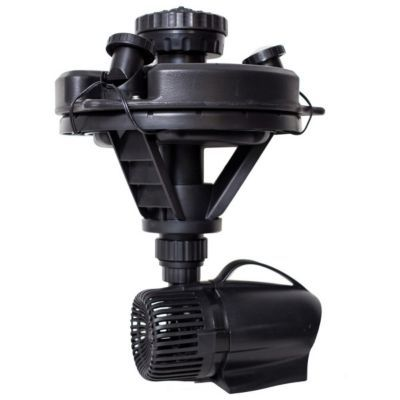 Pond Boss 1 4 Hp Floating Pond Fountain With Lights 52595 Pond Fountains Fountain Fountain Lights