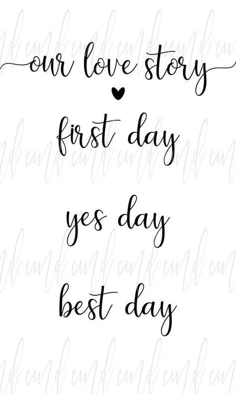 Our Love Story svg, First Day Yes Day Best Day svg, Wedding svg, svg for signs, Wedding svg Files fo Free Fonts For Cricut, Cricut Svg Files Free, Cricut Fonts, Freebies By Mail, Sign Fonts, Cricut Wedding, Cricut Craft Room, Lettering Tutorial, Font Alphabet