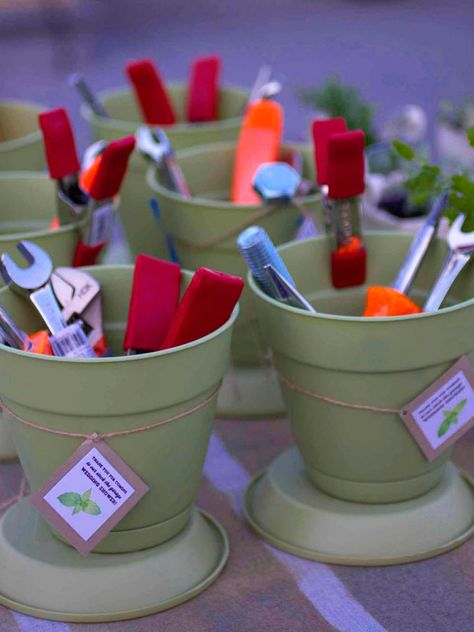 Throwing a bridal shower for a couple who just bought a new house? Give them a stock-the-garage party to provide them with essential tools for their new home. Include activities like beer tasting and games to make the party memorable.
