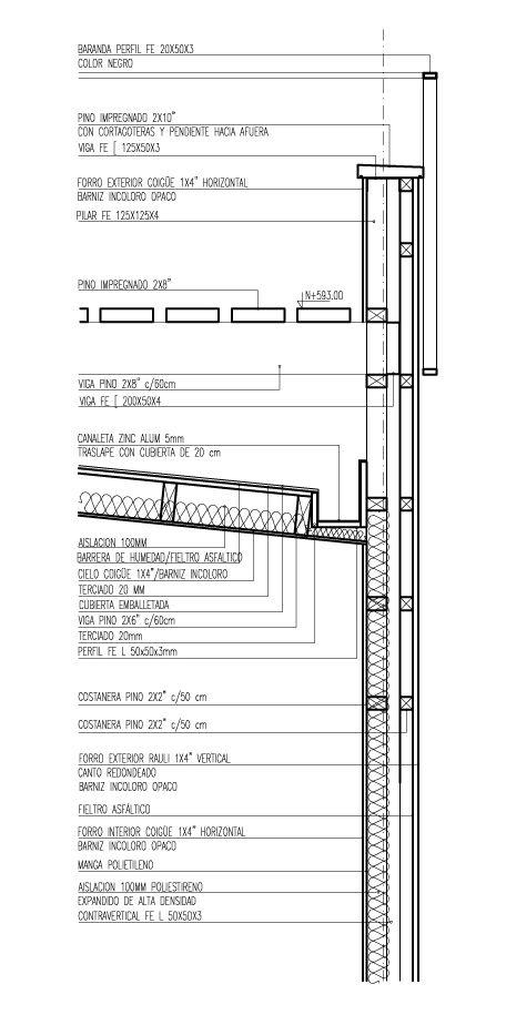 Galera de en detalle cortes constructivos estructuras de galera de en detalle cortes constructivos estructuras de madera 1 roof deck detail and construction sciox Images