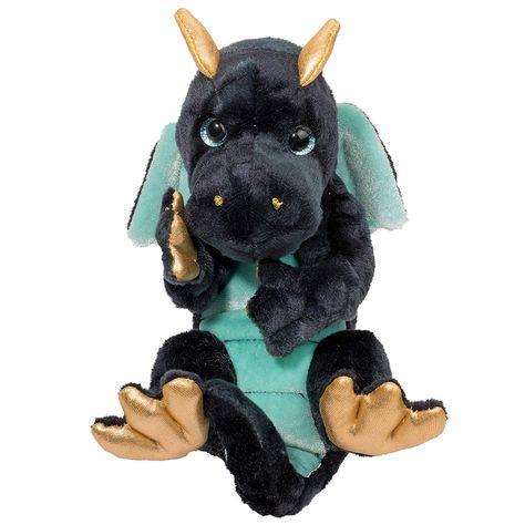 "Douglas Toys Plush Navy Dragon Lil' Handful Stuffed Animal, 6"""