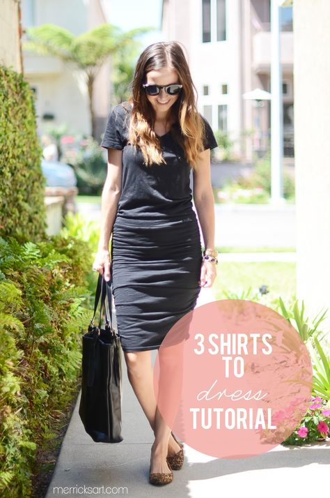 Merrick's Art // Style + Sewing for the Everyday Girl: SHIRT TO DRESS REFASHION (TUTORIAL)