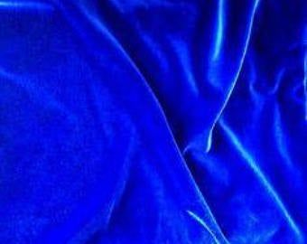 Luxurious Velvet Fabric yardage So Blue